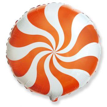 Фольгированный круг (46 см) Оранжевый леденец