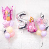 """Набор шаров """"Замок принцессы, 5 лет"""""""