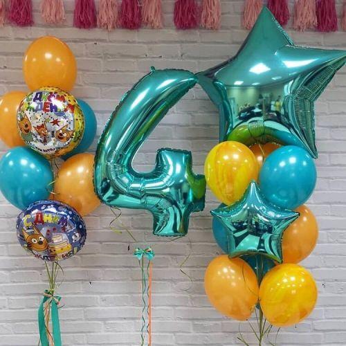 Сет воздушных шариков 3 кота для ребёнка