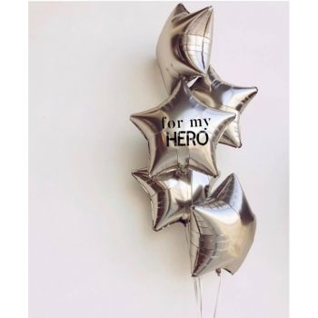 """Набор шаров """"For my hero"""""""