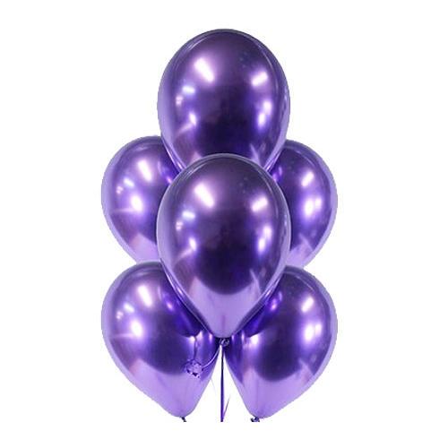 Фиолетовый хром - потрясающие шары с гелием