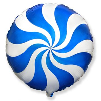 Фольгированный круг (46 см)  Синий леденец