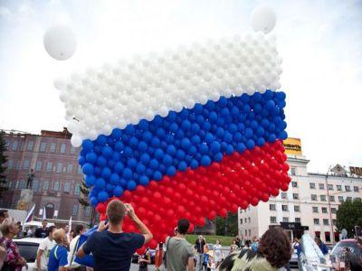 Оформление шарами на День города