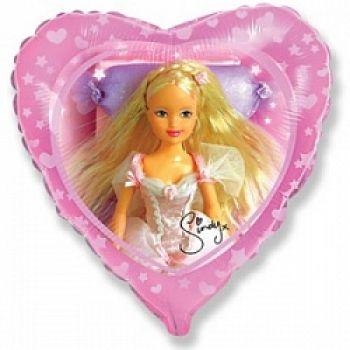 Фольгированное сердце (46 см) Синди