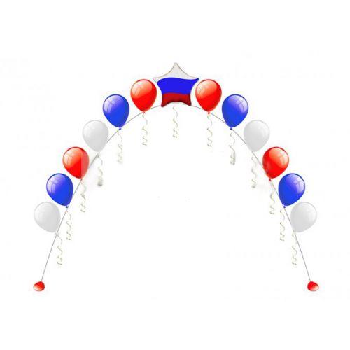 Цепочка из шаров на государственный праздник. Доставка и монтаж недорого