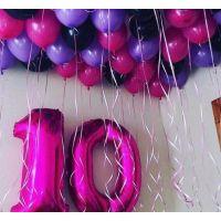 Набор цифр 10 и шары под потолок