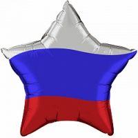 Фольгированная звезда  (Флаг России)