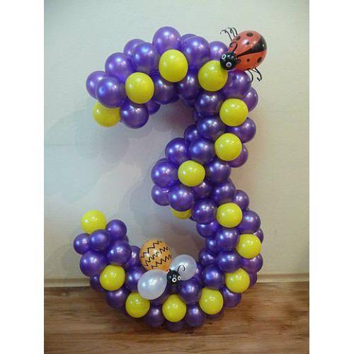 где заказать цифру 3 из шаров
