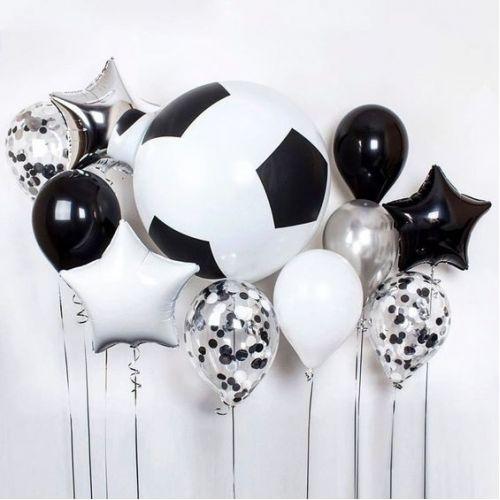 Оформление шарами футбольная тематика на день рождения