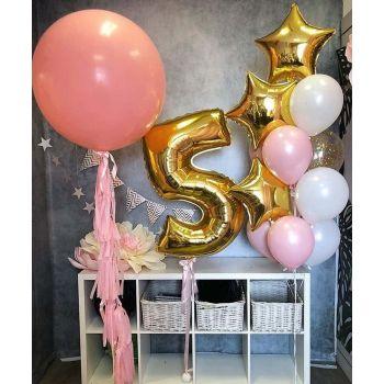 Оформление комнаты шарами на 5 лет