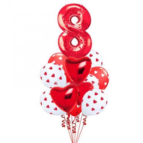 Поздравительные шарики на женский день