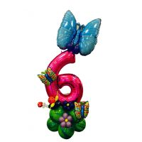 Цифра 6 из шаров