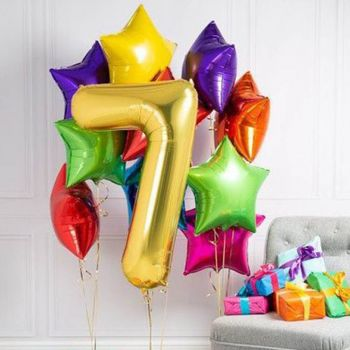 Украшение гостинной шарами 7 лет