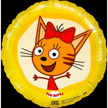 Фольгированный круг (46 см) Три Кота - Карамелька.