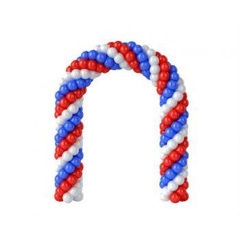 Гирлянда из воздушных шаров цвета флага России (цена за метр)