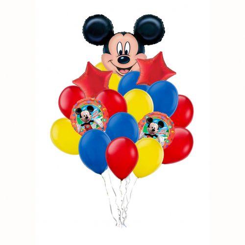 Композиция из воздушных шаров Микки Мау и Мини