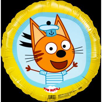 Фольгированный круг (46 см) Три Кота - Коржик