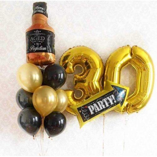 доставка шаров мужчине тридцать лет на день рождения