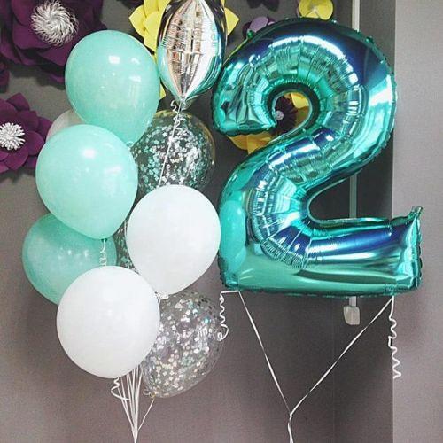 Купить фонтан шаров на 2 день рождения ребёнку
