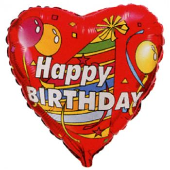 "Фольгированное сердце ""Happy birthday"" (46 см)"