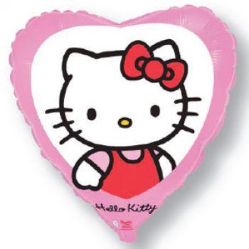Фольгированное сердце Котёнок с бантиком