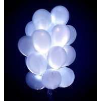 Белые светящиеся шары (цена за шар (1 шт)