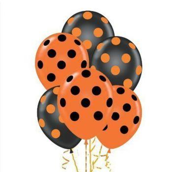 Чёрные и оранжевые шарики Точка - цена за шар