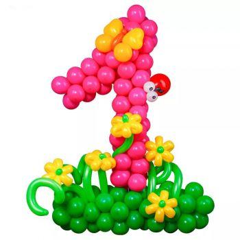 Цифра из воздушных шаров 1