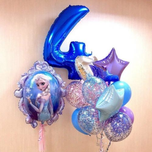 Воздушные шары с Эльзой и снеговиком Олафом