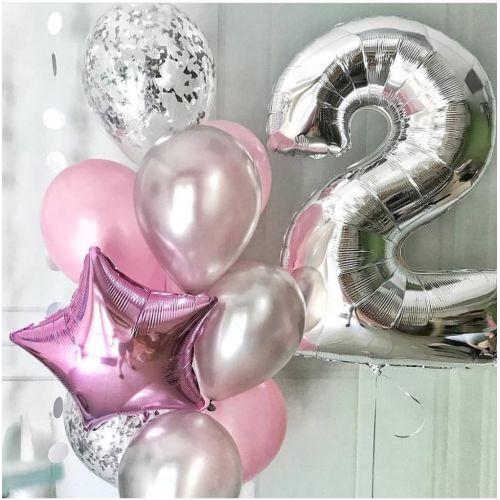 Нежный набор шаров для девушки