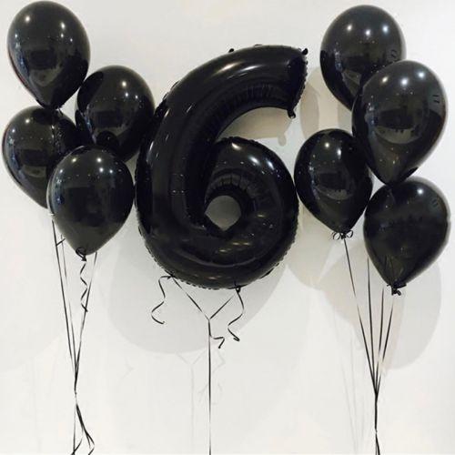 варианты чёрных шаров фото