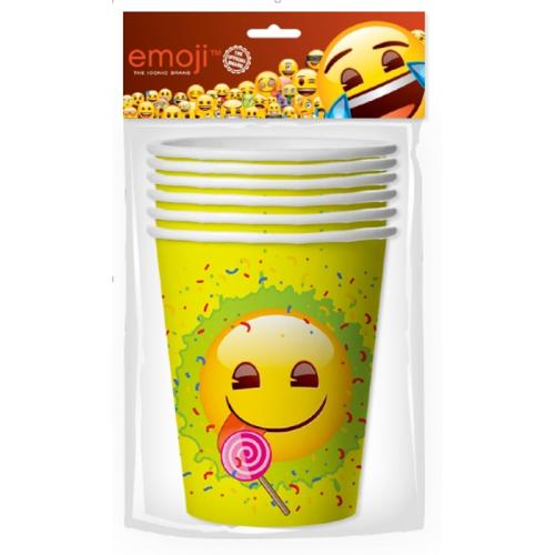 Стаканы (255 мл) Смайл, Emoji, Желтый, 6 шт.
