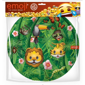 Тарелки, Emoji, Джунгли, Зеленые (6 шт, 23 см)