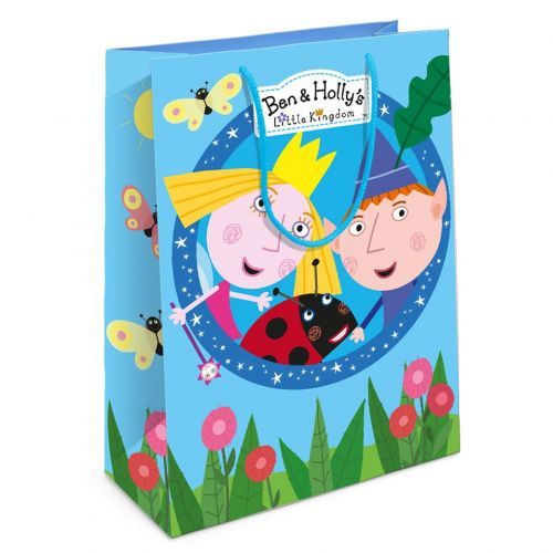 Пакет подарочный, Бен и Холли, Голубой, (35x25x9 см)