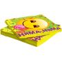 Салфетки, Смайл, Emoji, Желтый, (33 см, 12 шт)