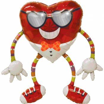 Ходячий шар Сердце в очках (104 см)