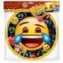 Тарелки Смайл, Emoji, Черный, 6 шт. (23 см)