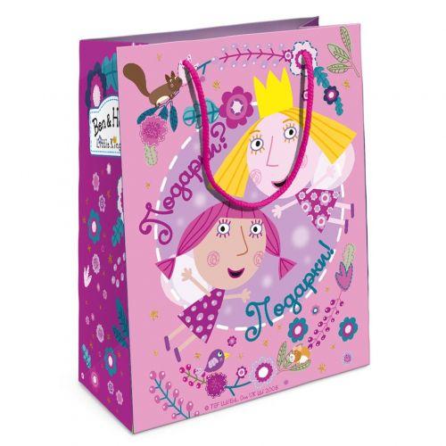 Пакет подарочный, Холли-фея, Розовый (23x18x10 см)