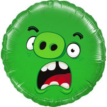 Фольгированный шар Angry Birds, Зелёный (46 см)
