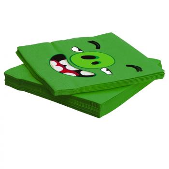 Салфетки, Angry Birds, Зеленый, (33 см, 20 шт)