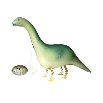 Ходячий шар из фольги динозавр с яйцом