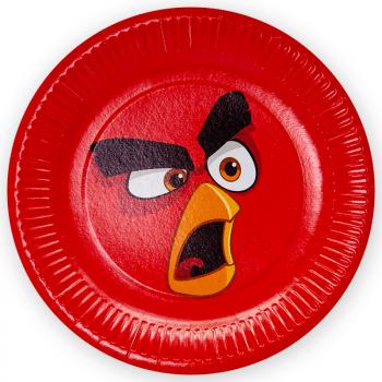 Тарелки Angry Birds, Красные (23 см, 6 шт)