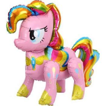 Ходячая Фигура, Радужный пони, Розовый (74 см)