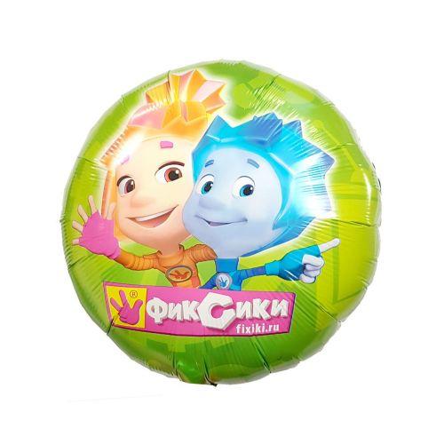Круглый шар Симка и Нолик из фольги - с гелием и обработкой