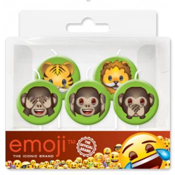 Свечи Джунгли, Emoji, 7 см, 5 шт.