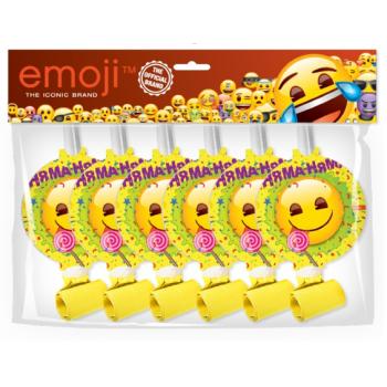 Языки гудки, Emoji, Желтый, 6 шт