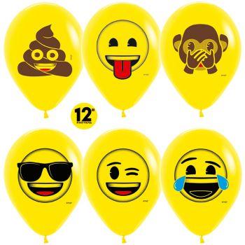 Шарики Озорные Смайлы, Emoji, Желтые