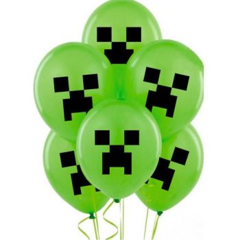 Шарики Майнкрафт зелёные (цена за шар)