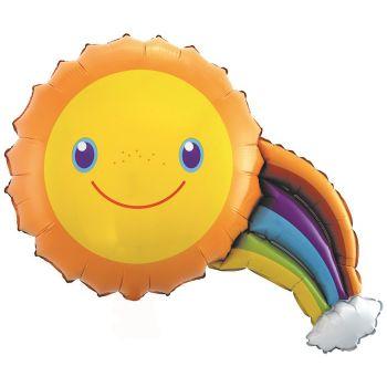 """Фольгированный шар """"Солнечная радуга"""" (91 см)"""