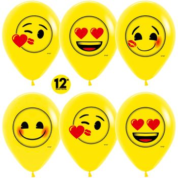 Шары смайлы, Emoji сердца (цена за шар)